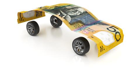 50 Australian Dollars with Wheels