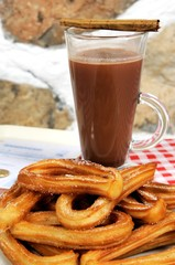 Churros and hot chocolate © Arena Photo UK