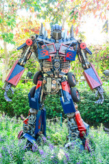 ChangRai Thailand 31 Dec 2014 : transformers in the park
