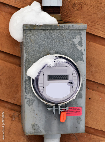 Hydro Power Meter with Money Dollar Signs - 78139874