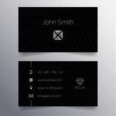 Business card template -  simple dark modern design