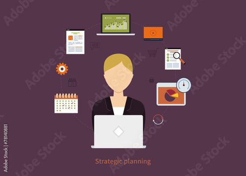 Concept of consulting services, project management, time - 78140881