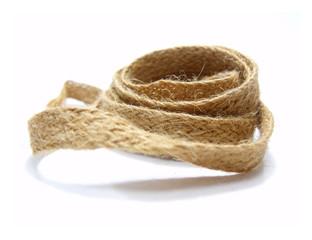 hemp rope on white background