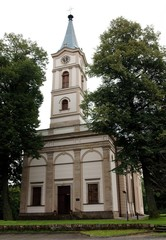 Protestant church in Wisla town