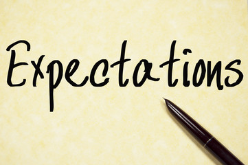 expectations word write on paper