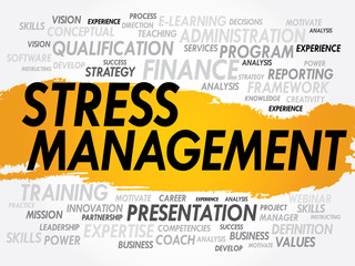 Word cloud of Stress Management related items