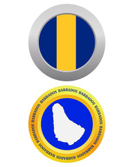 button as a symbol BARBADOS