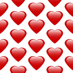 Love heart seamless pattern.
