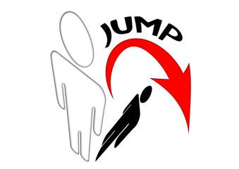 Über den eigenen Schatten springen - Jump
