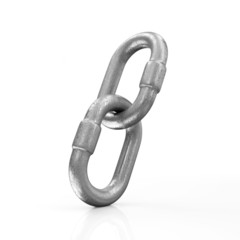 Metal Chain Links Icon isolated on white background