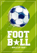 Grunge Football Poster - 78145447