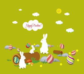 Easter bunny family