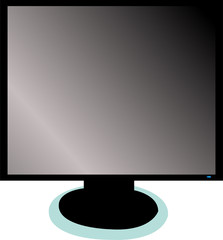 illustration of monitor - vector
