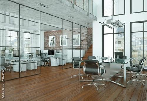 canvas print picture modernes Büro im Loft