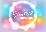 Fototapety Easter Church Service Illustration