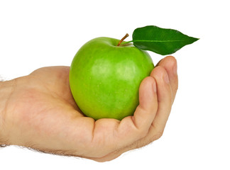 Green Apple in Hand