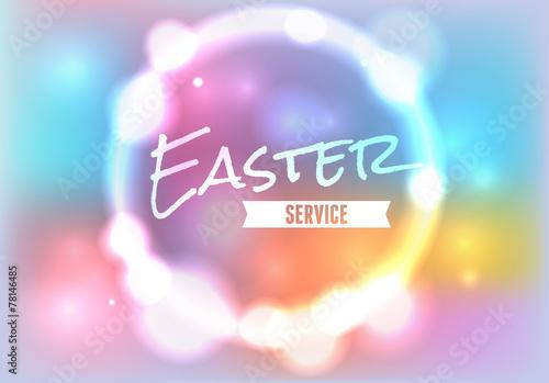 Zdjęcia na płótnie, fototapety, obrazy : Easter Church Service Illustration