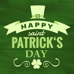 St. Patrick's Typographic design