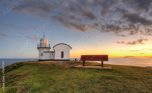 Fotobehang Vuurtoren / Mill Tacking Point Lighthouse Port Macquarie