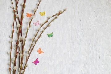Ostern - 001 - Zweige - Schmetterling