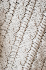 white knitted background