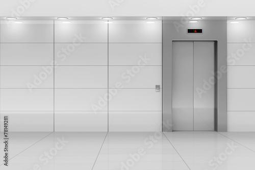 Leinwanddruck Bild Modern Elevator Hall Interior