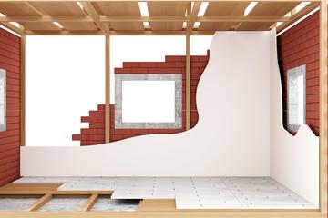 Home Construction Concept. House Under Construction