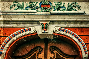 Old postcard of one historical building.Timisoara, Romania 1