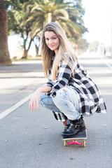 Beautiful Skateboarder