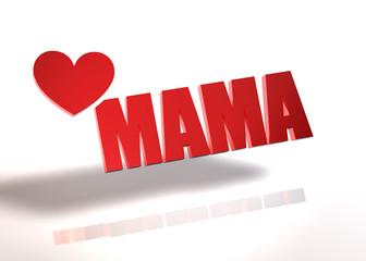 Mama - Herz - 3dMama - Herz - 3d