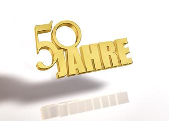 50 Jahre - Gold - 3d - P