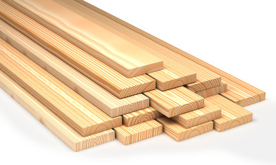 Closeup wooden boards. Construction materials