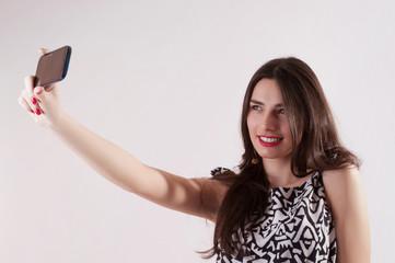 Pretty woman selfy