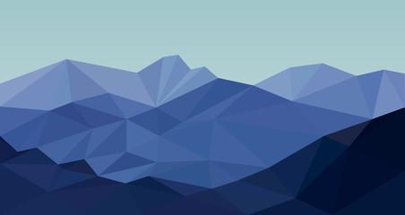 Абстрактные горы с стиле low poly