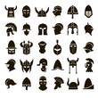 30 icons knight's helmet - 78152243