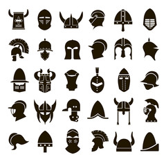 30 icons knight's helmet