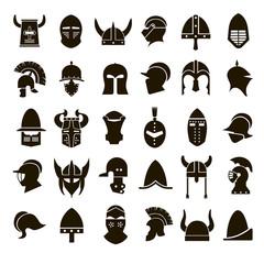 30 icons knight's helmet