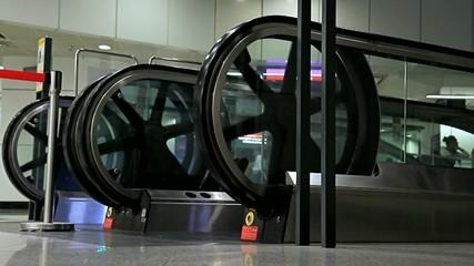 escalators in the subway