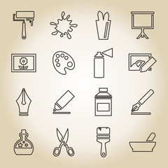 Art outline icon