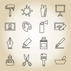 Art outline icon