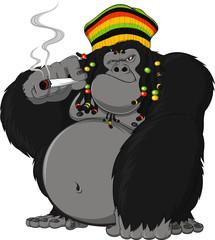 Rastafarian monkey