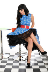 Attractive Young Vintage Pin-Up Model