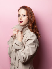 Portrait of beautiful redhead girl