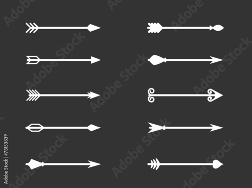 Vector illustration set of Arrows - 78153639