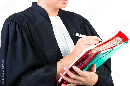 robe d'avocat - 78153872