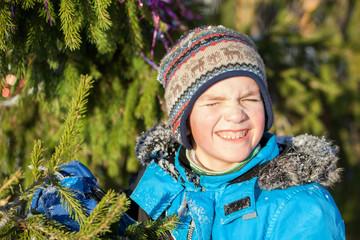 Portrait of cheerful happy child