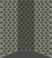 Walls in sharp spikes