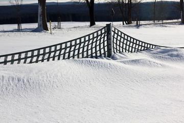Zaun gegen Schneeverwehung