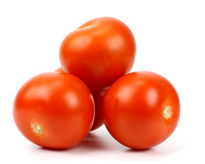 Red tomato vegetable closeup isolated on white background