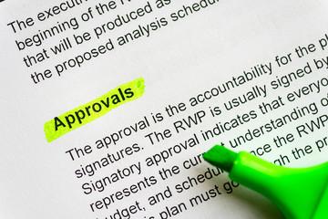 aprovals